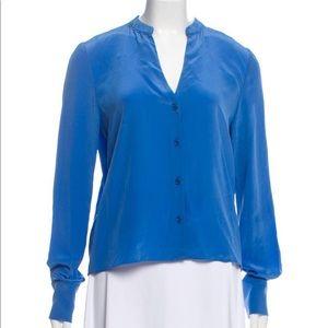 Silk Blue DVF top!
